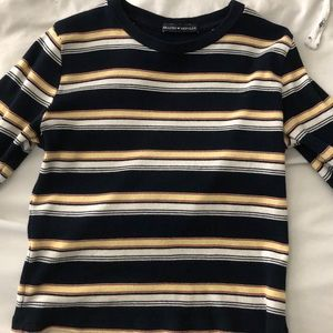brandy melville long sleeve fitted striped shirt